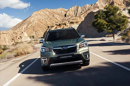 FORESTER e-BOXER:<br/>HYBRID, THE SUBARU WAY